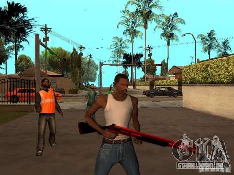 Red Chrome Weapon Pack para GTA San Andreas sexta tela