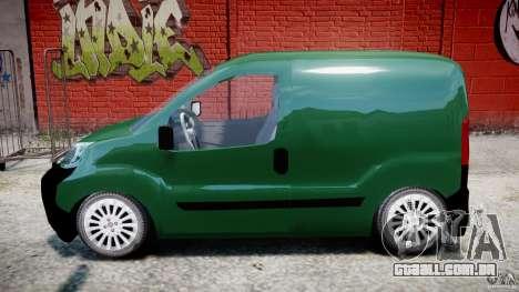 Fiat Fiorino 2008 Van para GTA 4 esquerda vista