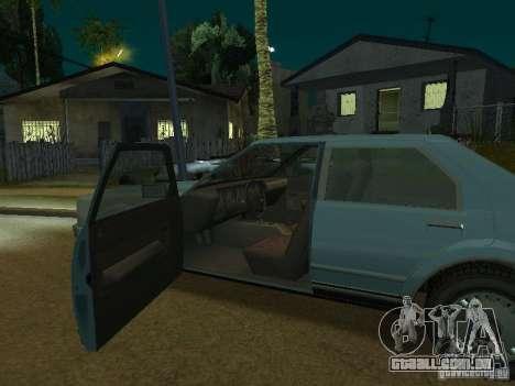 O táxi de romanos de GTA4 para GTA San Andreas vista interior