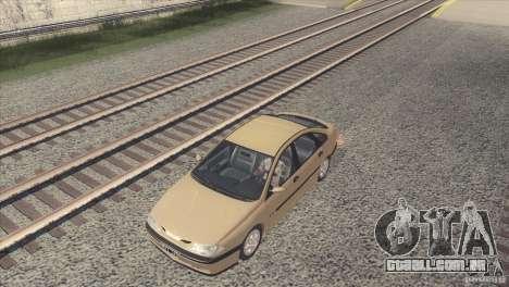Renault Laguna RXE 1996 para GTA San Andreas traseira esquerda vista