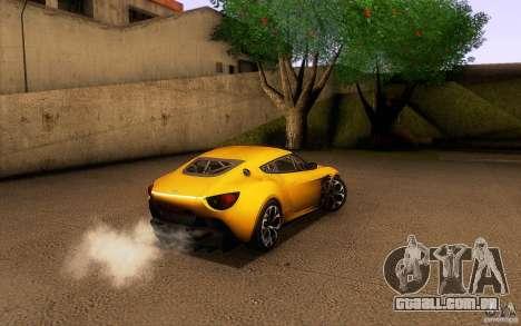 Aston Martin Zagato V12 V1.0 para GTA San Andreas interior