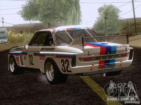 BMW CSL GR4 para GTA San Andreas traseira esquerda vista