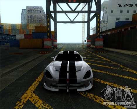 Dodge Viper SRT 2013 para GTA San Andreas esquerda vista