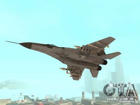 MIG-29 do COD MW2 para GTA San Andreas vista direita