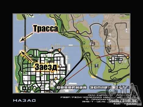 New Drift Track SF para GTA San Andreas nono tela