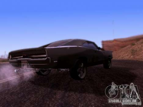 Dodge Charger 1970 Fast Five para GTA San Andreas vista direita