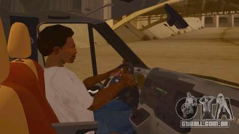 Ford Transit CNN para GTA San Andreas vista interior