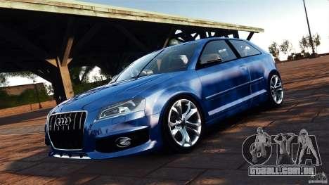 Audi S3 2010 v1.0 para GTA 4 vista de volta