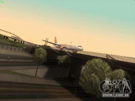 Airbus A320-214 EasyJet para GTA San Andreas traseira esquerda vista
