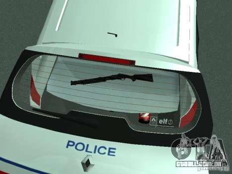 Renault Scenic II Police para GTA San Andreas vista superior