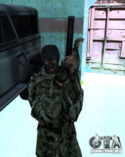 STALKER Shadow of Chernobyl SWAT OGSE para GTA San Andreas segunda tela