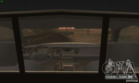 Ford Crown Victoria Georgia Police para GTA San Andreas vista direita