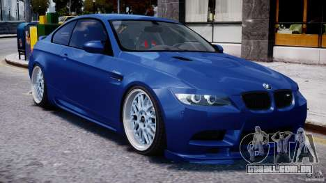 BMW M3 Hamann E92 para GTA 4 vista lateral