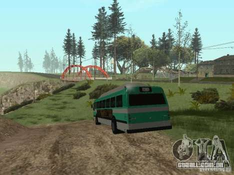 Ônibus do GTA 4 para GTA San Andreas vista direita