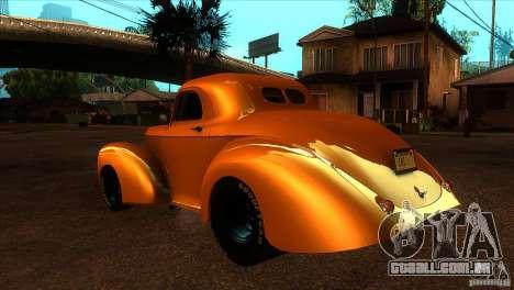 Americar Willys 1941 para GTA San Andreas traseira esquerda vista
