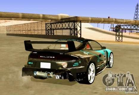Mitsubishi Eclipse Elite para GTA San Andreas traseira esquerda vista