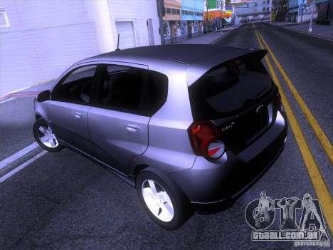 Chevrolet Aveo LT para GTA San Andreas traseira esquerda vista