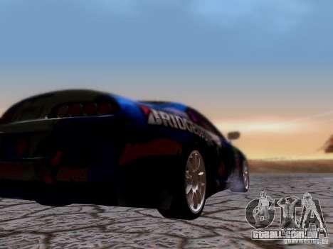 Toyota Supra para GTA San Andreas vista interior