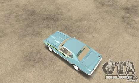 Pontiac GTO The Judge para GTA San Andreas traseira esquerda vista