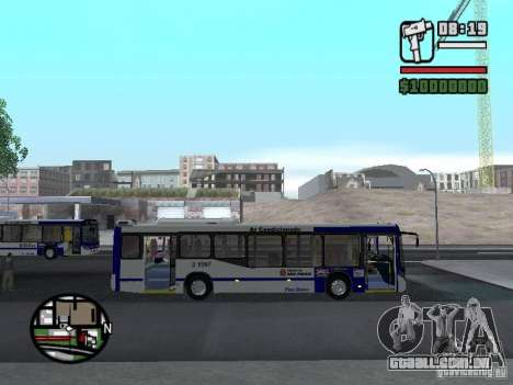 Busscar Urbanuss Ecoss MB 0500U Sambaiba para GTA San Andreas vista traseira