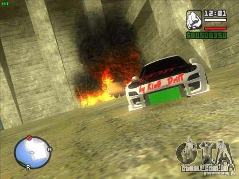 Mazda RX-7 Drift Version para GTA San Andreas vista traseira