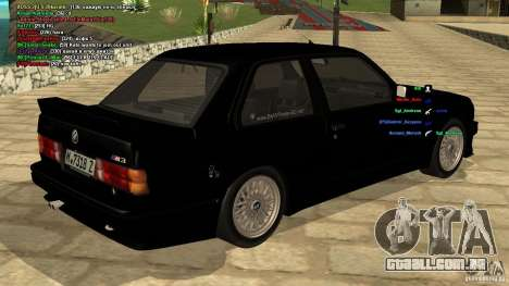 BMW M3 E30 1989 para GTA San Andreas esquerda vista