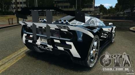 McLaren F1 ELITE Police [ELS] para GTA 4 traseira esquerda vista