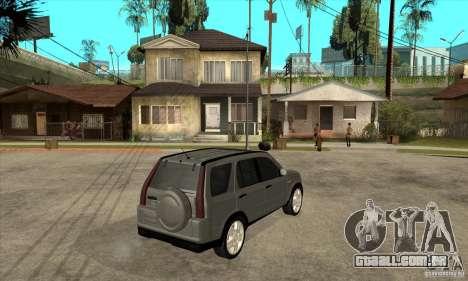 Honda CRV (MK2) para GTA San Andreas vista direita