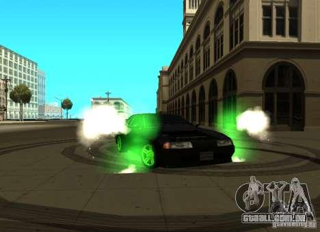 Elegy Green Drift para GTA San Andreas esquerda vista