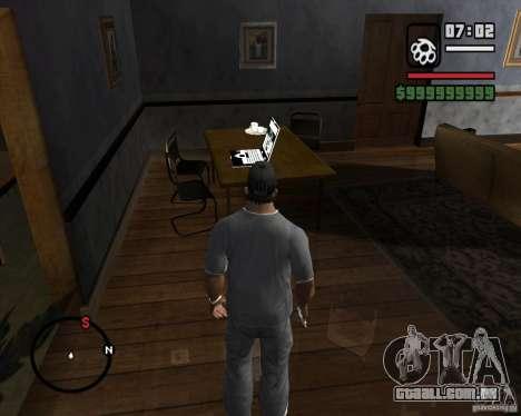 A oportunidade de jogar em um laptop para GTA San Andreas