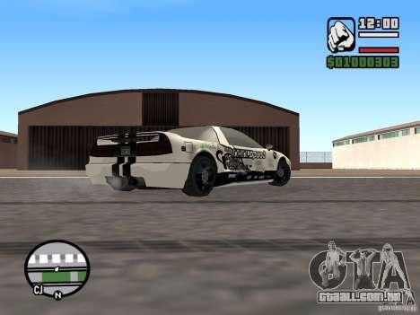 new Infernus Skin para GTA San Andreas traseira esquerda vista