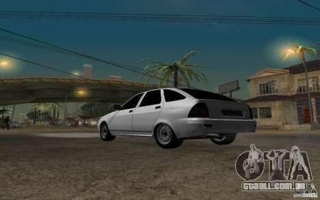 Hatchback tuning luz de LADA priora para GTA San Andreas traseira esquerda vista