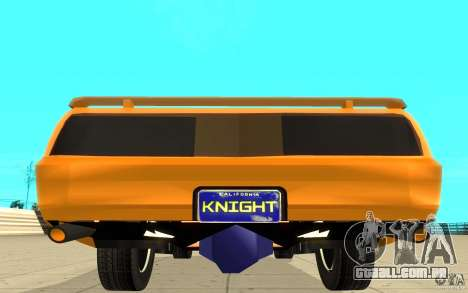 Pontiac Firebird 1989 K.I.T.T. para GTA San Andreas vista traseira