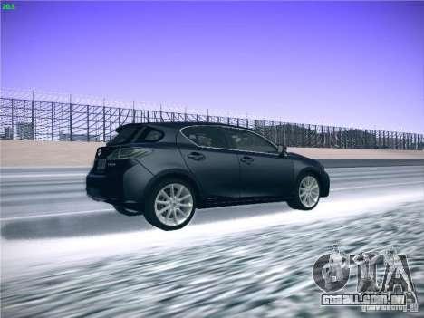 Lexus CT200H 2012 para GTA San Andreas vista interior