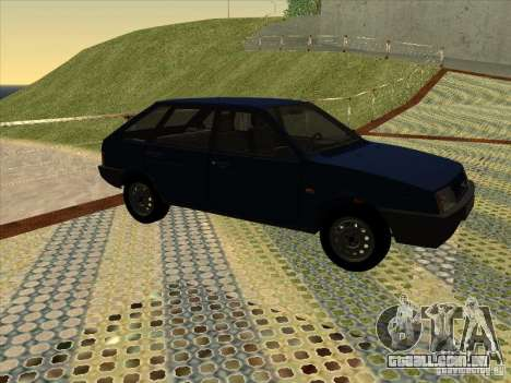Vaz 2109 dreno V2 para GTA San Andreas traseira esquerda vista