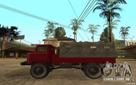 GAZ 66 para GTA San Andreas esquerda vista