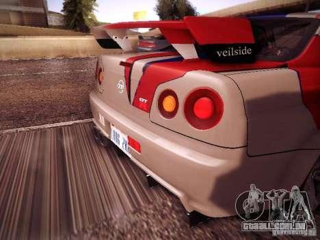 Nissan Skyline full tune para GTA San Andreas vista direita