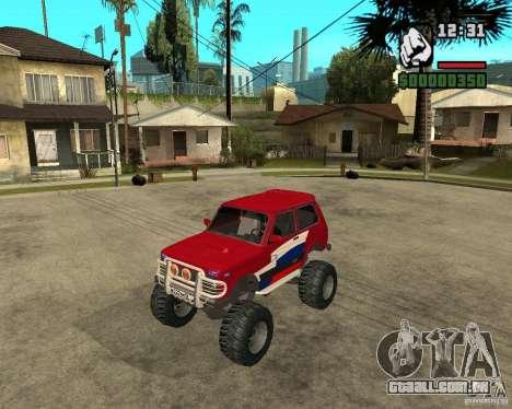 VAZ-21213 4x4 Monster para GTA San Andreas traseira esquerda vista