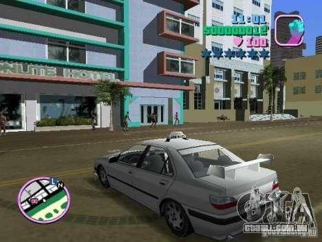 Peugeot 406 Taxi para GTA Vice City deixou vista