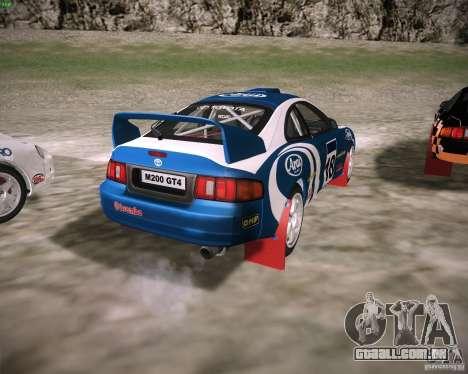 Toyota Celica ST-205 GT-Four Rally para GTA San Andreas traseira esquerda vista