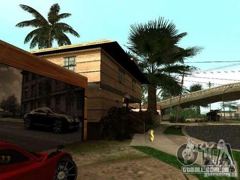 CJ em casa nova para GTA San Andreas quinto tela