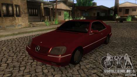 Mercedes Benz 600 Sec para GTA San Andreas vista interior