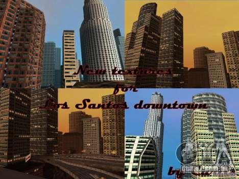 Nova textura de arranha-céus do centro da cidade para GTA San Andreas quinto tela