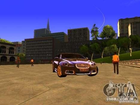 Jaguar XFR 2011 para GTA San Andreas vista direita