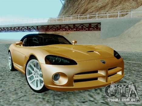 Dodge Viper SRT-10 Roadster para GTA San Andreas vista traseira