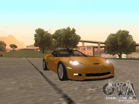 Chevrolet Corvette Z06 para GTA San Andreas esquerda vista