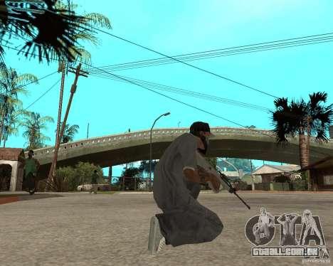 Manuel AUG com um olho para GTA San Andreas terceira tela