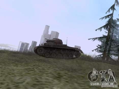 PzKpfw II Ausf.A para GTA San Andreas esquerda vista