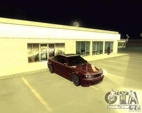 BMW 330 Ci para GTA San Andreas traseira esquerda vista