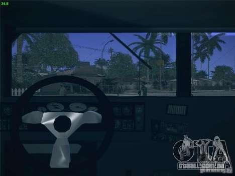 Hummer H1 1986 Police para GTA San Andreas vista interior